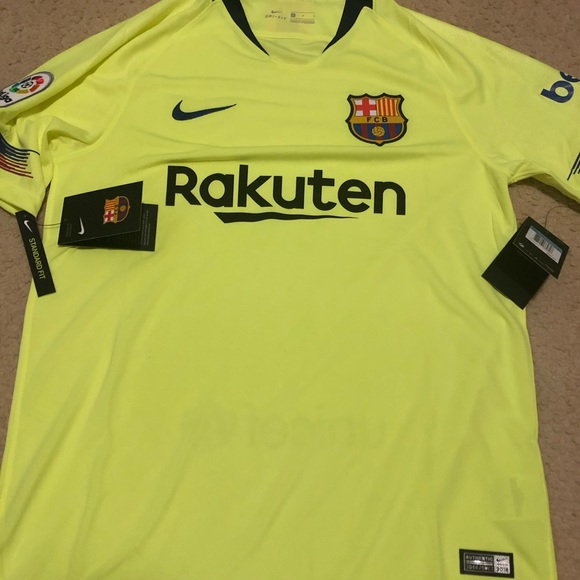 Nike Shirts Brand New Neon Fc Barcelona Jersey Poshmark